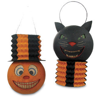 Pumpkin & Black Cat Lanterns