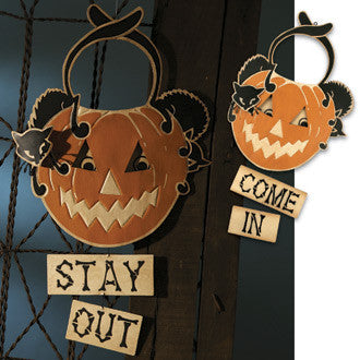 Come In or Stay Out Halloween Sign