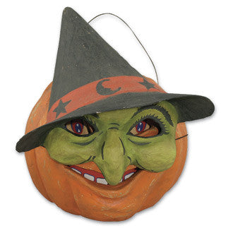 Pumpkin with Witch Mask Bucket