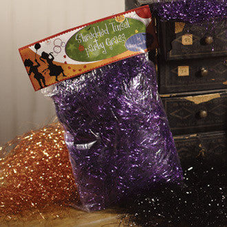Purple Tinsel Grass - Party Decorations