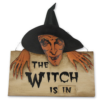 Witch In or Out Sign