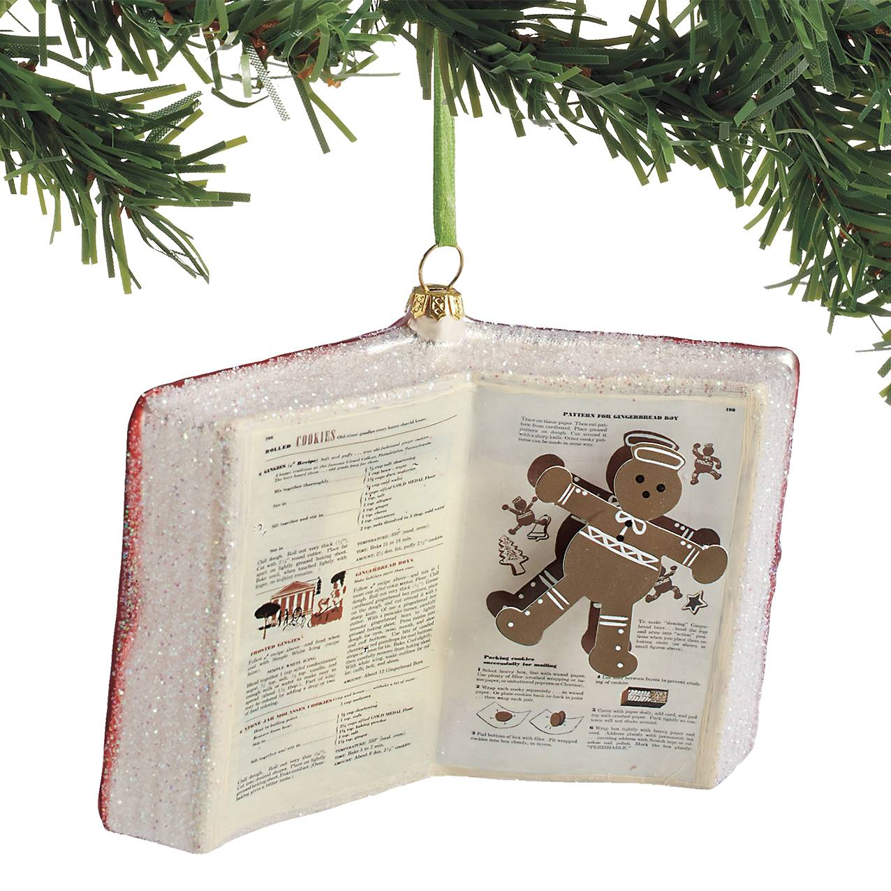 Betty Crocker Cookbook Ornament with Cookie Recipe