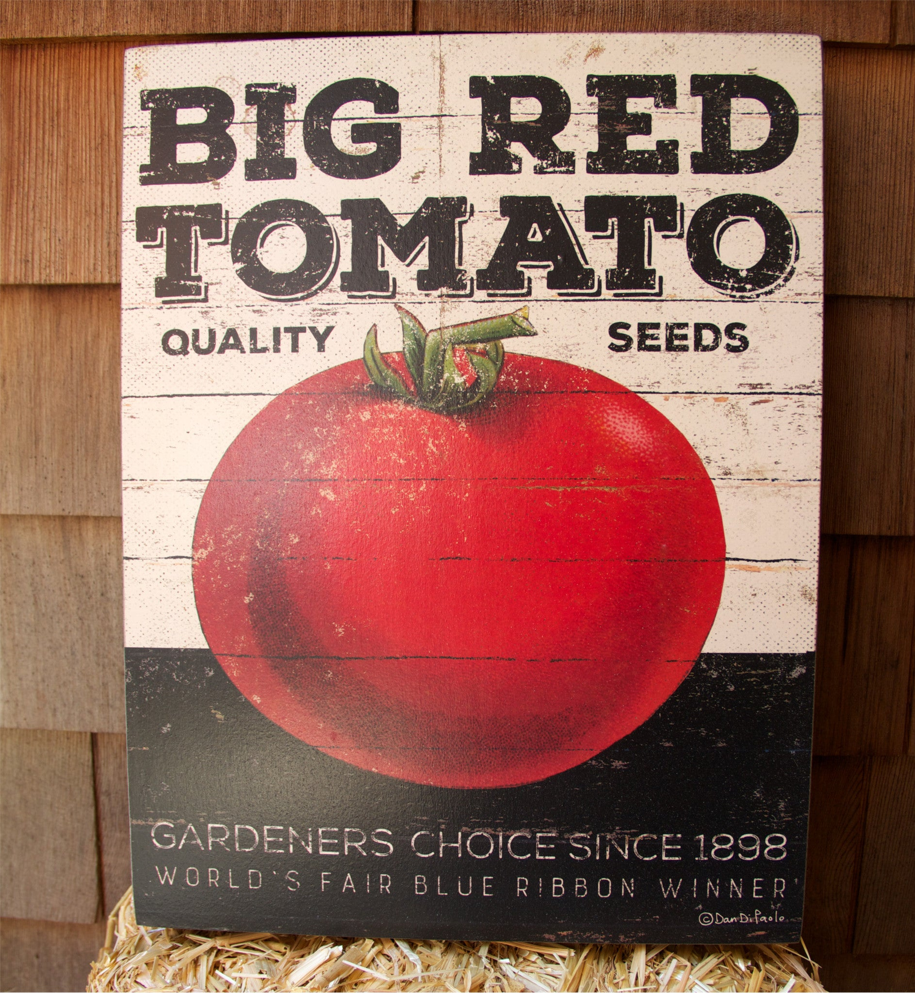 Big Red Tomato Sign - Kitchen Box Sign
