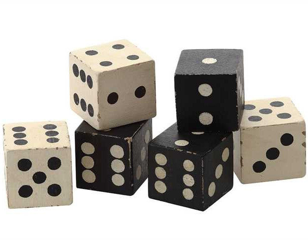 Black & White Dice Blocks