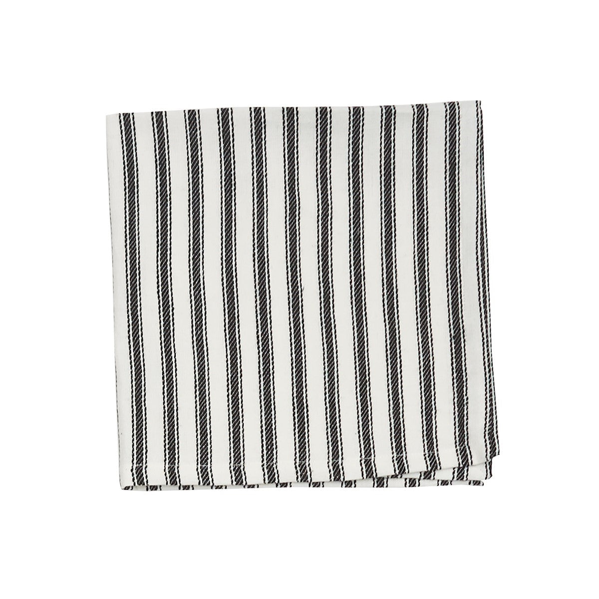 Black & White Ticking Stripe Napkins, Cotton Cloth
