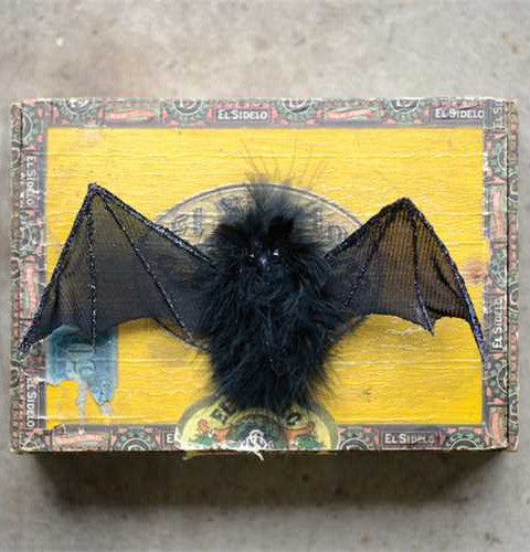 Flying Bat Ornaments - Set of 3