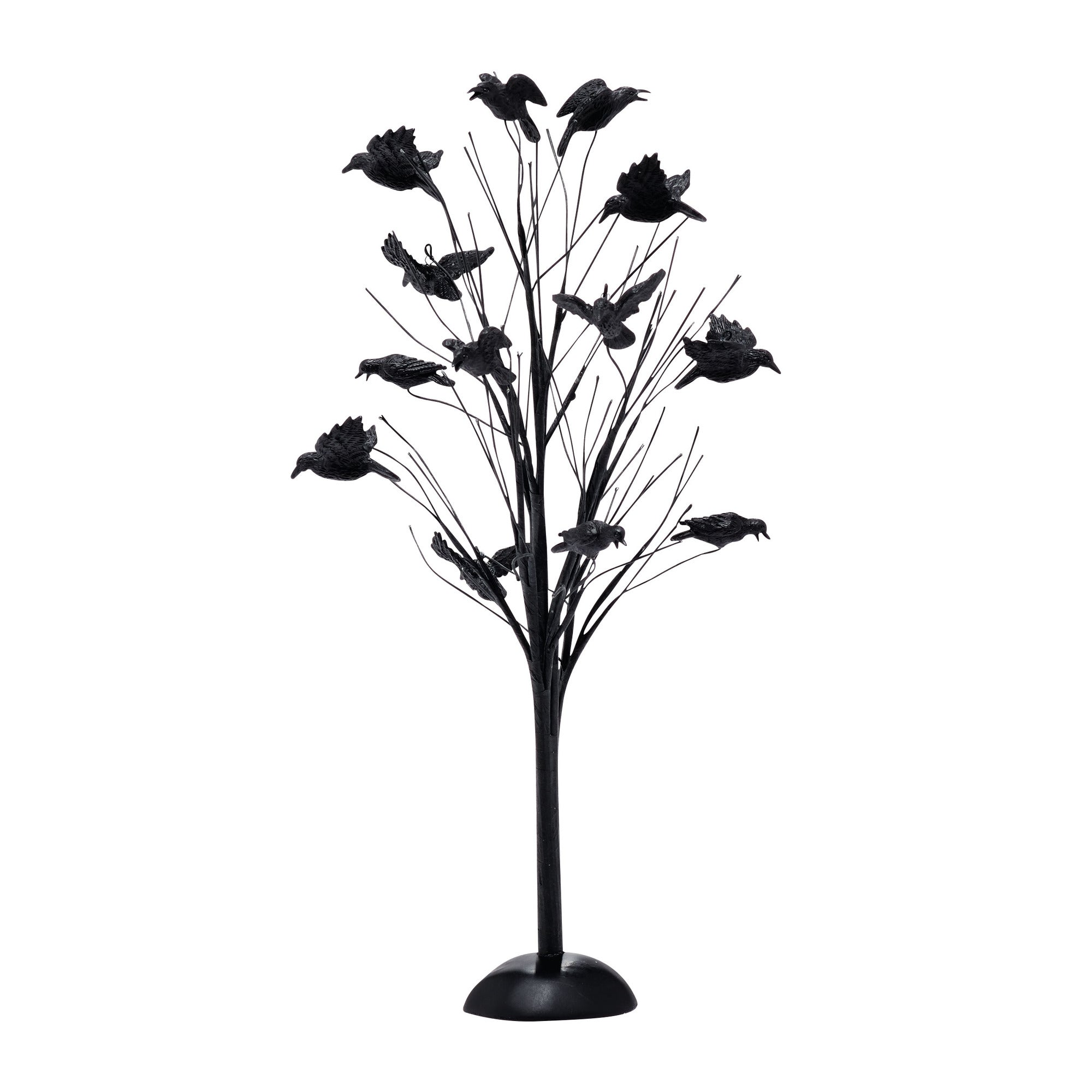 Black Tree Covered in Crows Halloween Accessory by Dept 56