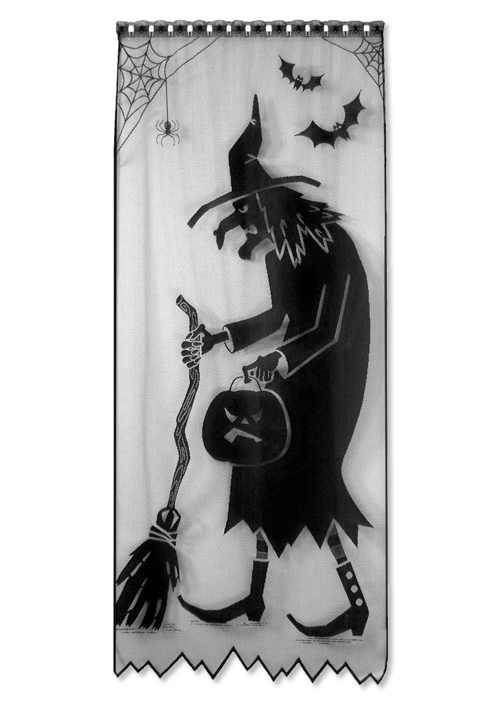 Black Witch Silhouette Window Door or Wall Hanging