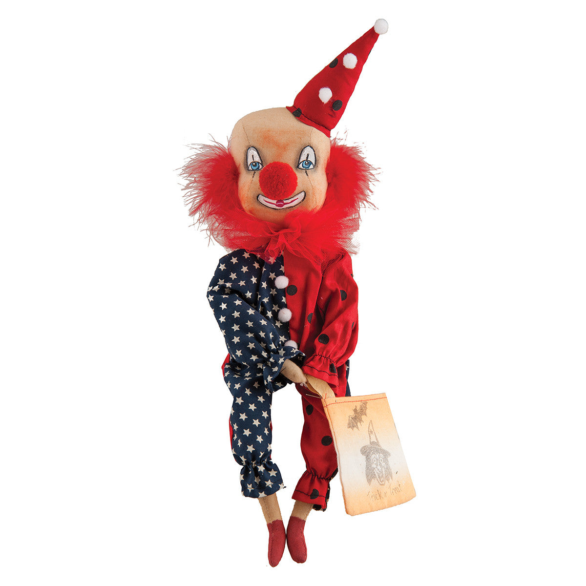 Joe Spencer Blakley Clown - Cloth Halloween Doll