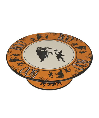 boo cake plate - Vintage Style Halloween Decorations
