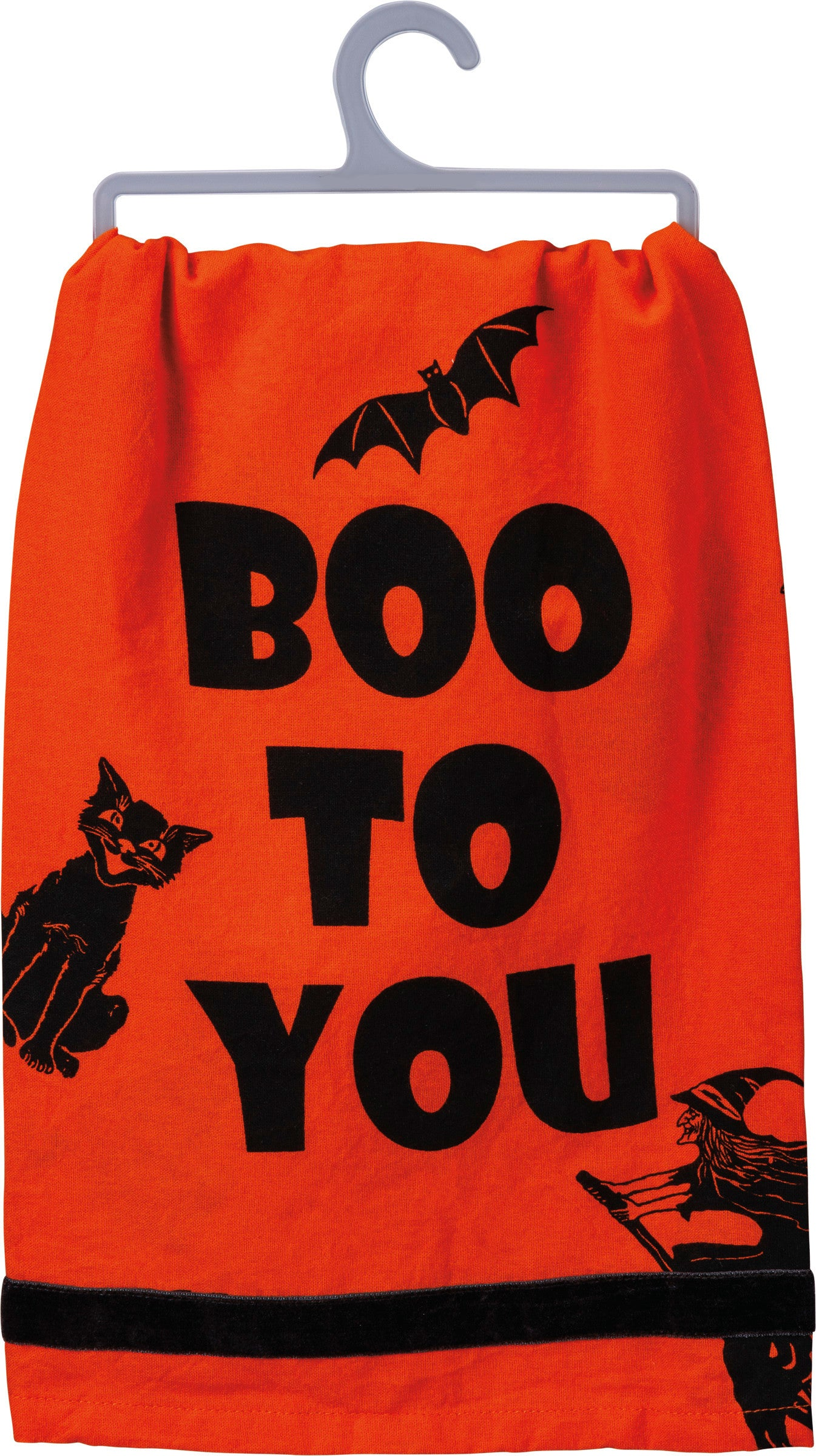 Boo to You Halloween Silhouettes Kitchen Towel