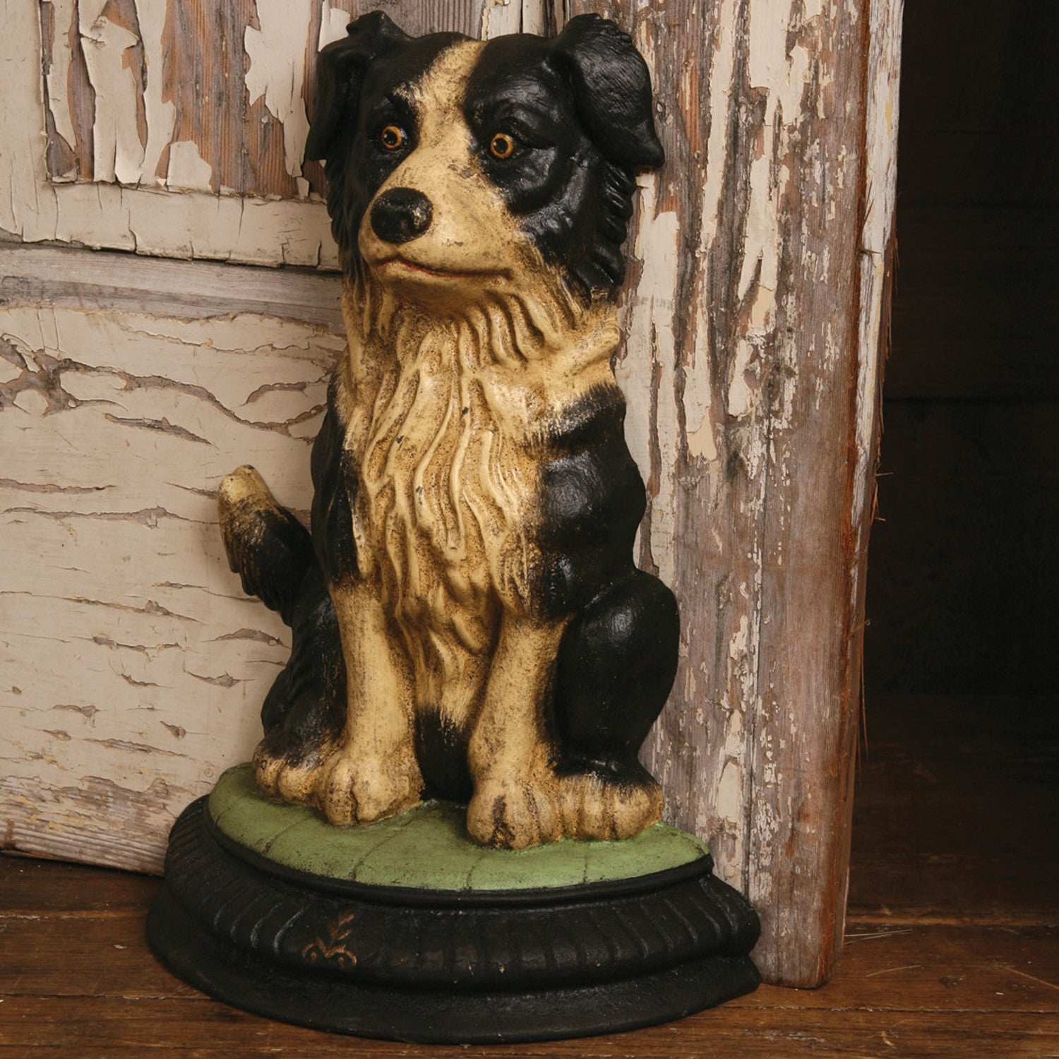 Border Collie Door Stop Cast Iron Dog Door Stop