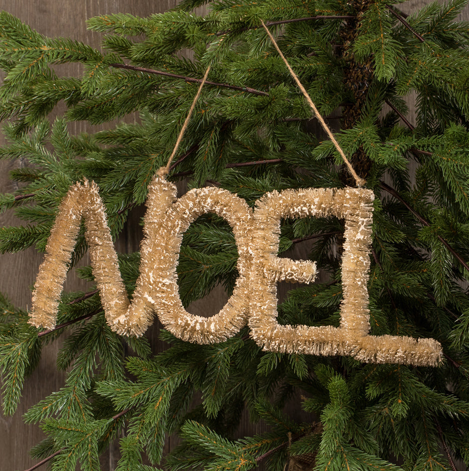 Bottle Brush Noel Sign / Ornament