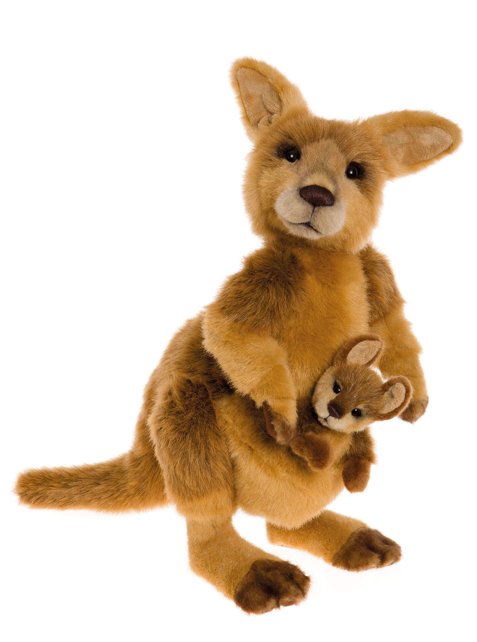 Bouncer & Skip Kangaroo Stuffed Animals by Charlie Bears