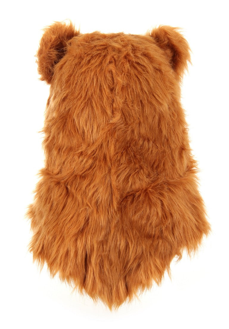 Brown Bear Mouth Mover Mask Backside