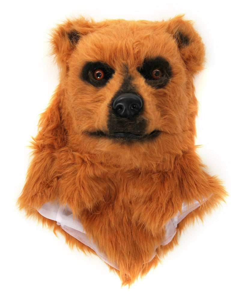 Brown Bear Halloween Costume Mask with Moving Mouth