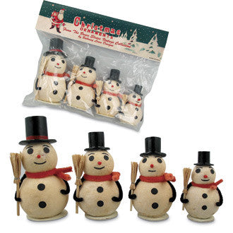 Batting Snowmen in Retro Pack