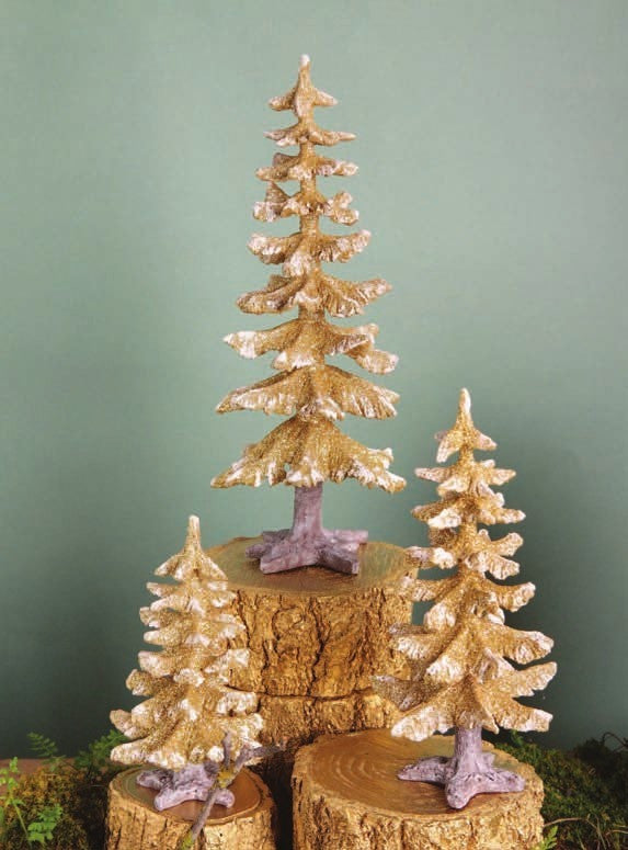 Winter Fir Trees Gold