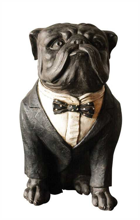 Winston Bulldog in Tux Figurine