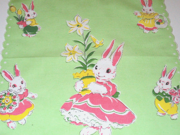 Bunny Rabbit Easter Celebration Handkerchief