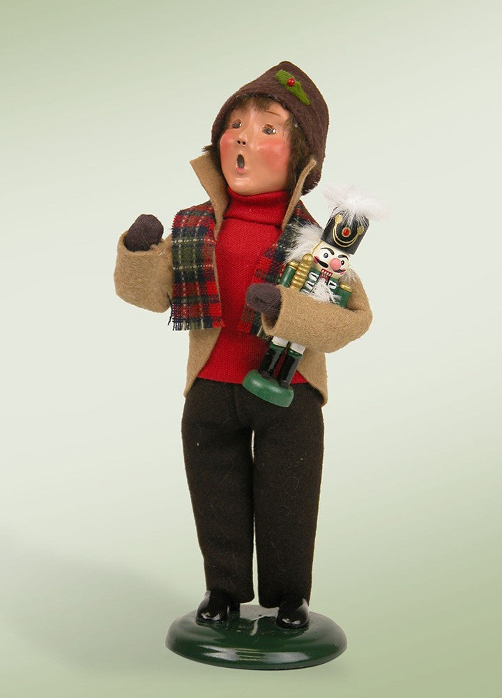 Boy Holding Nutcracker