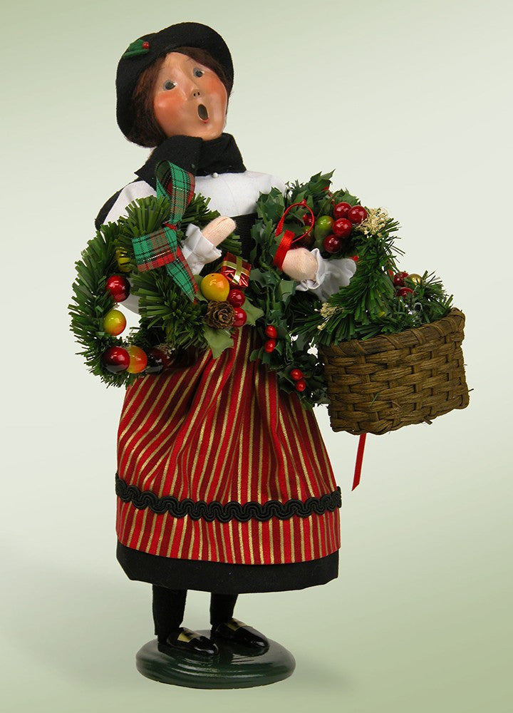 Crier Selling Wreaths