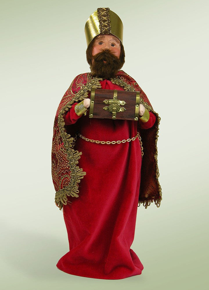 Red Wise Man with Chest of Myrrh