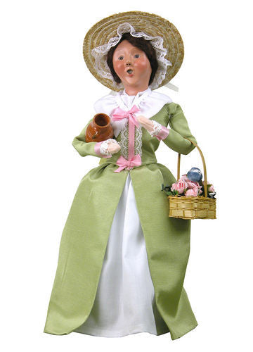 Colonial Flower Woman