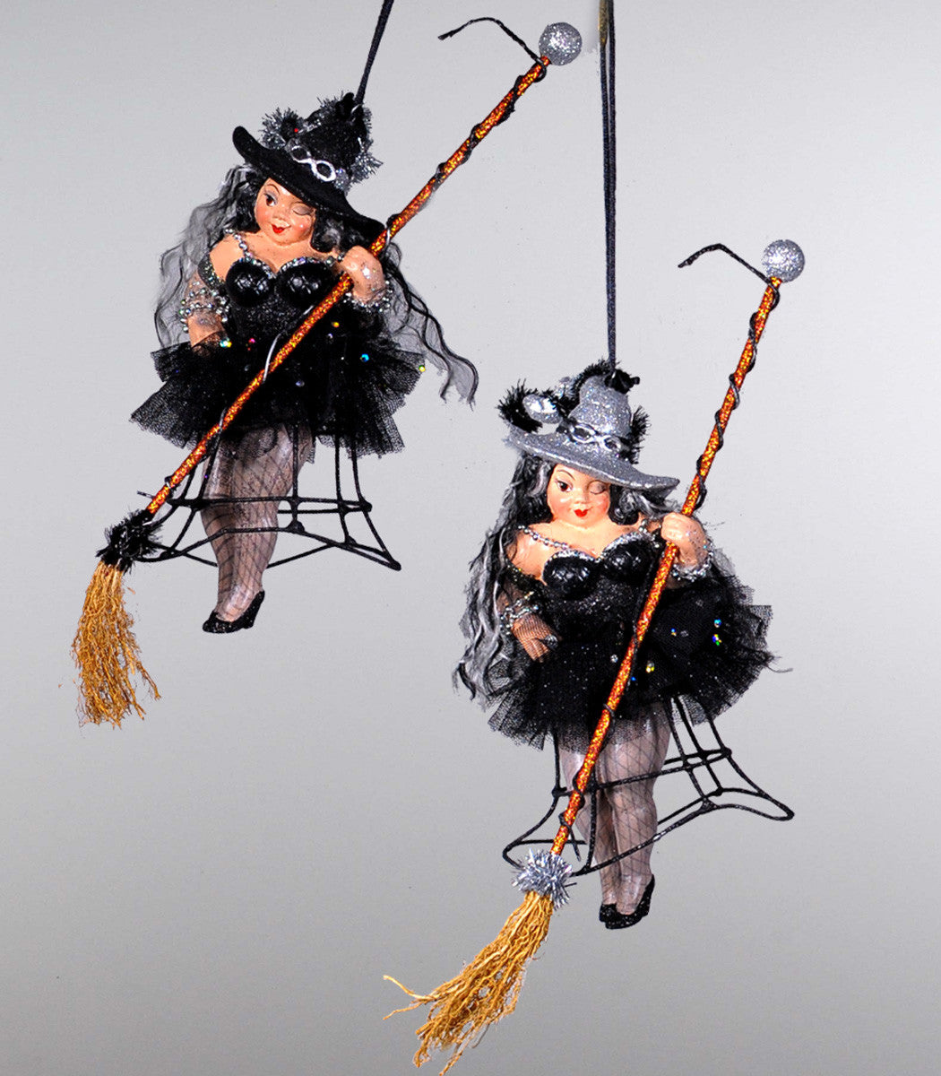 Cage Witch Dangle Ornaments - Katherine's Collection Halloween