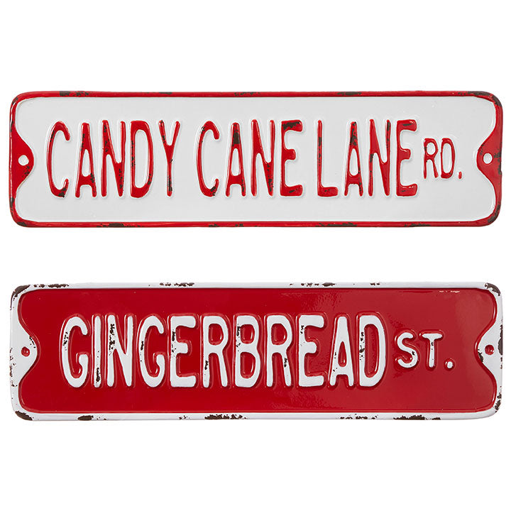Candy Cane Lane and Gingerbread Street Signs
