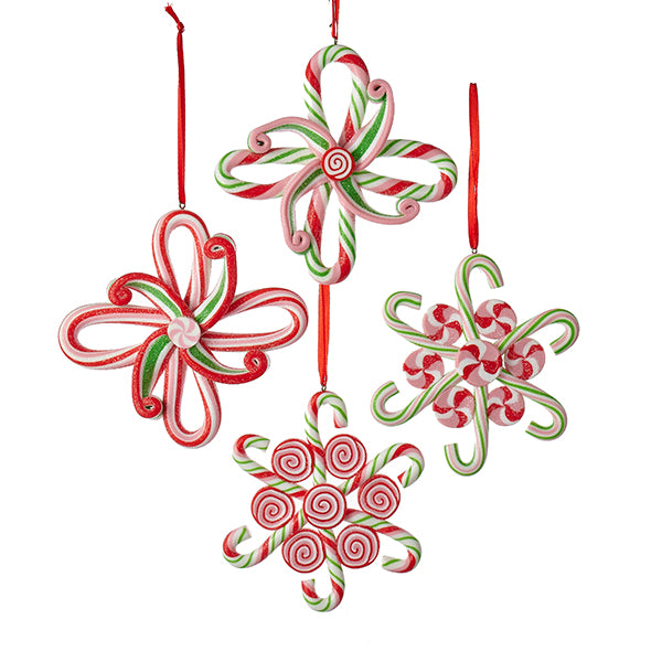Candy Cane Snowflake Ornaments
