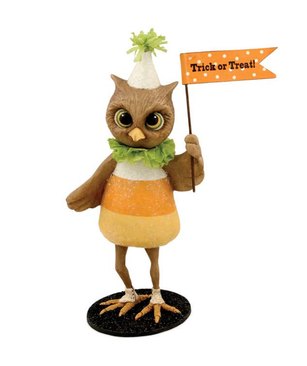 Candy Corn Hootie Figurine by Bethany Lowe