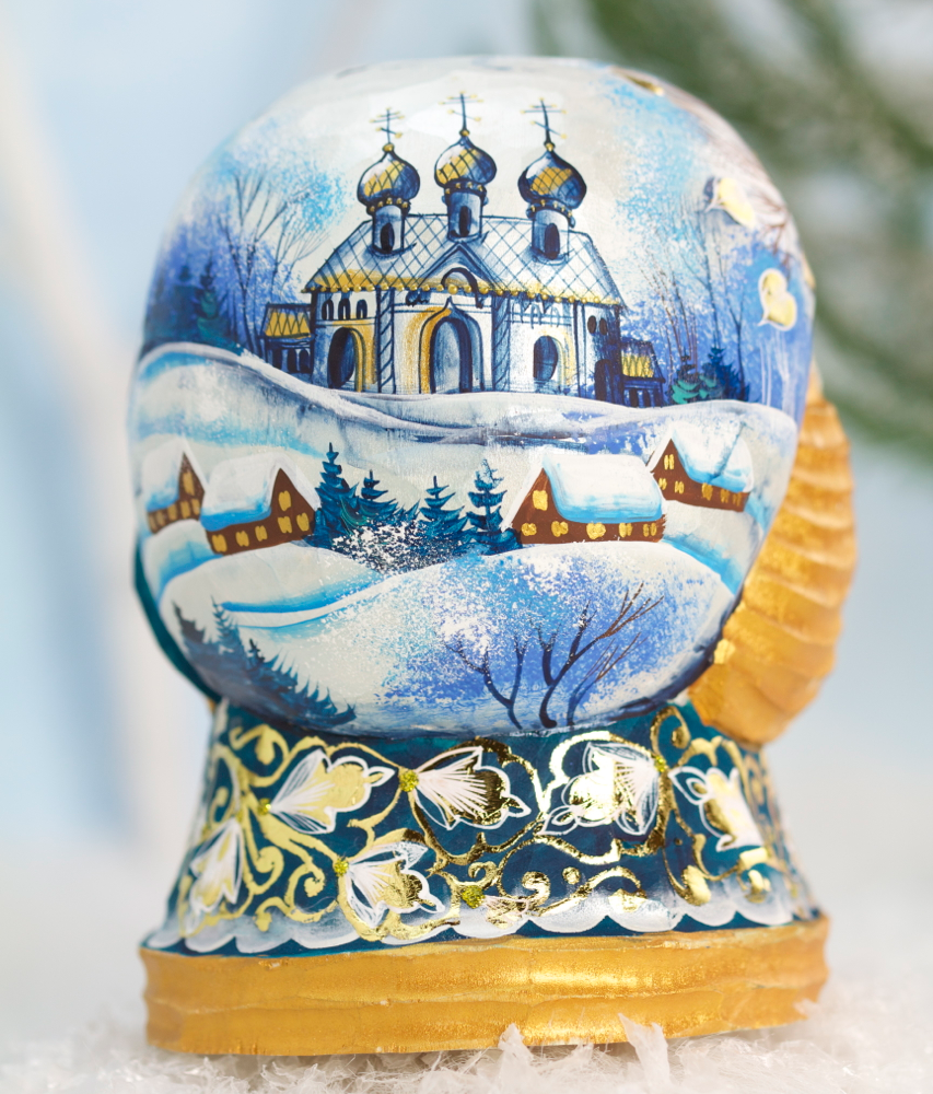 Carved Russian Santa Back View
