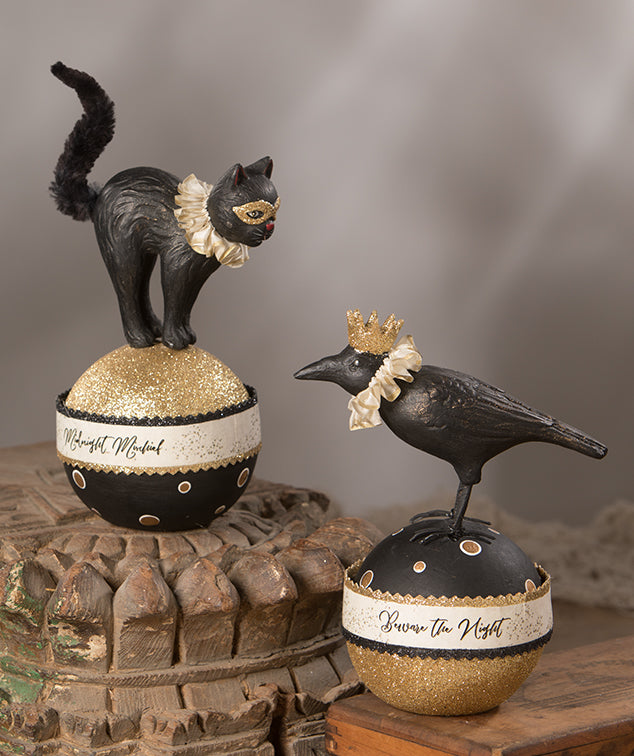 Cat & Crow of the Night Containers