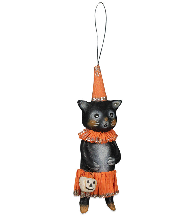 Cat-Erella Ornament, Halloween Kitty Cat