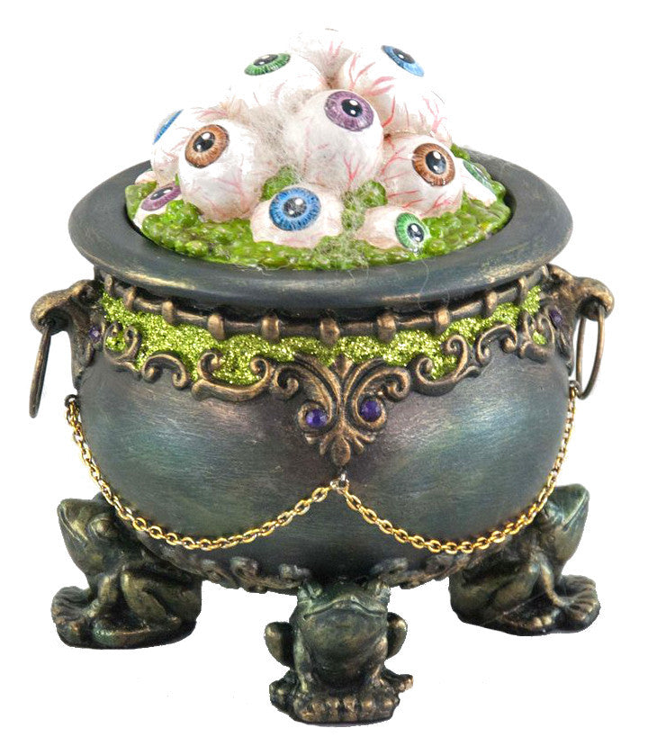 Cauldron of Eyeballs with Frog Stand