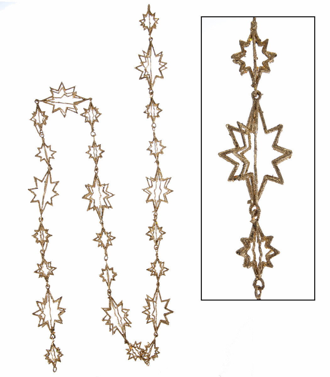 Celestial Gold Star Garland