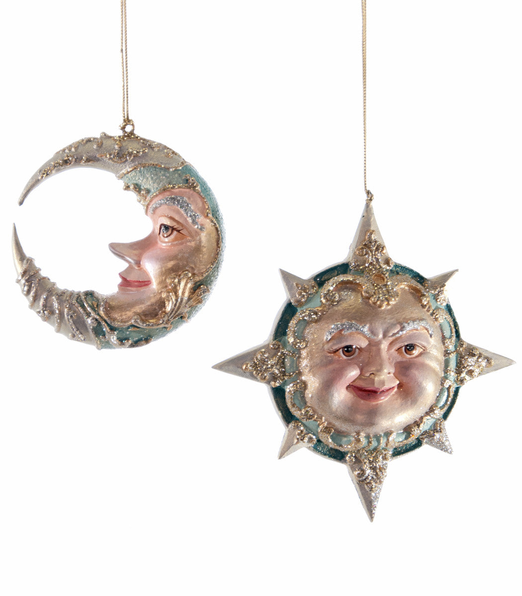 Celestial Sun & Moon Ornaments