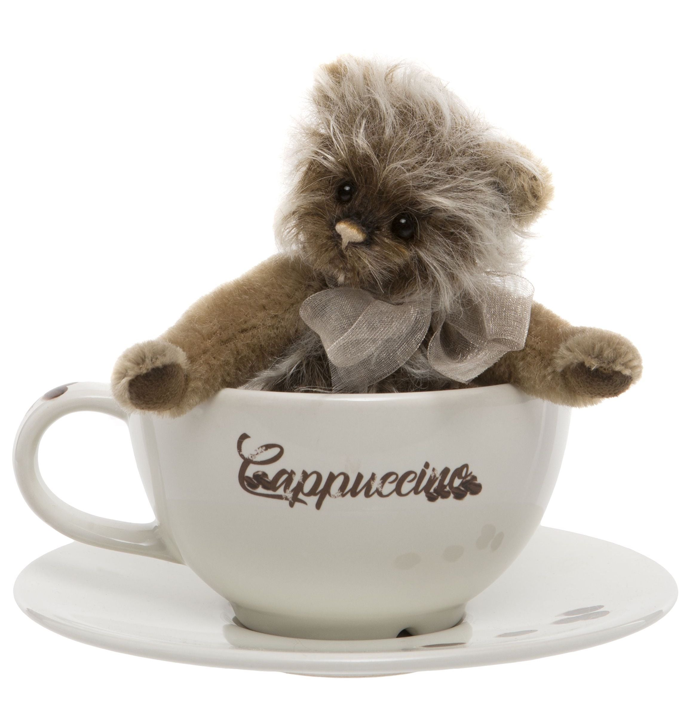 Charlie Bears Cappuccino Teddy Bear Cup and Saucer Gift Set