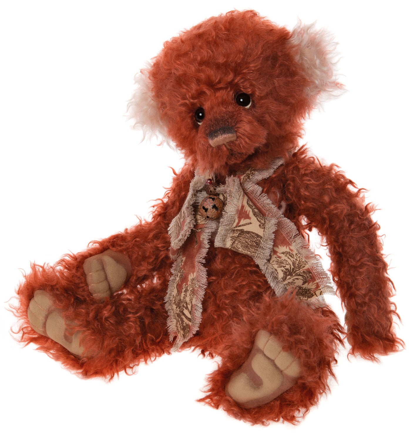 Charlie Bears Dreamkeeper Russet Red Mohair Teddy Bear