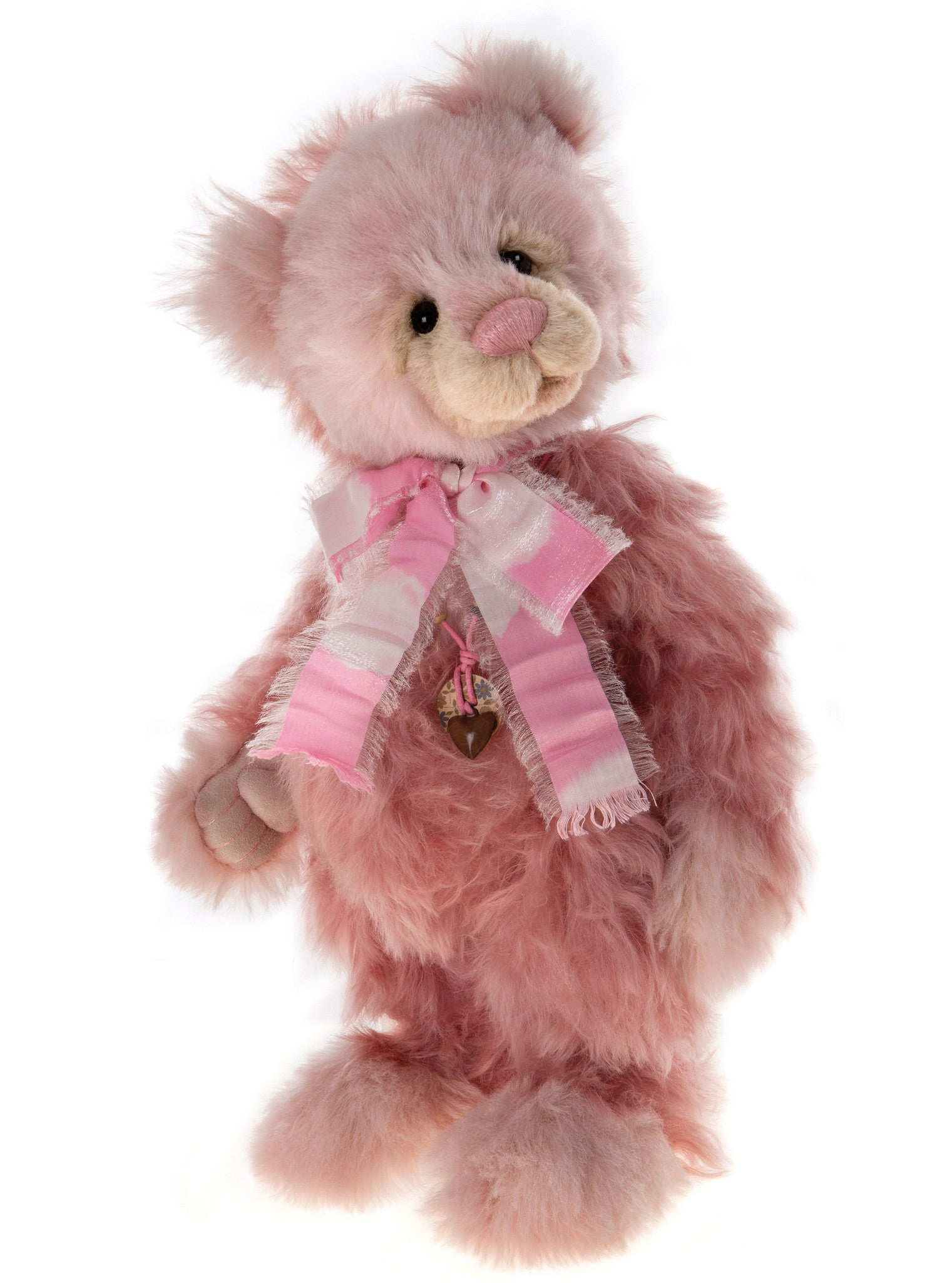 Charlie Bears Gladrags Pink Mohair Bear