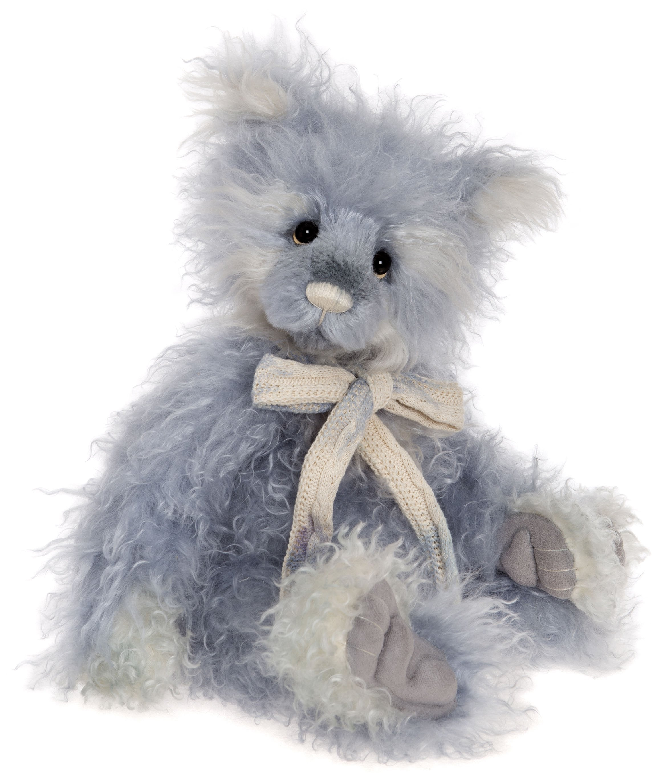 Charlie Bears Heston Blue Mohair Bear