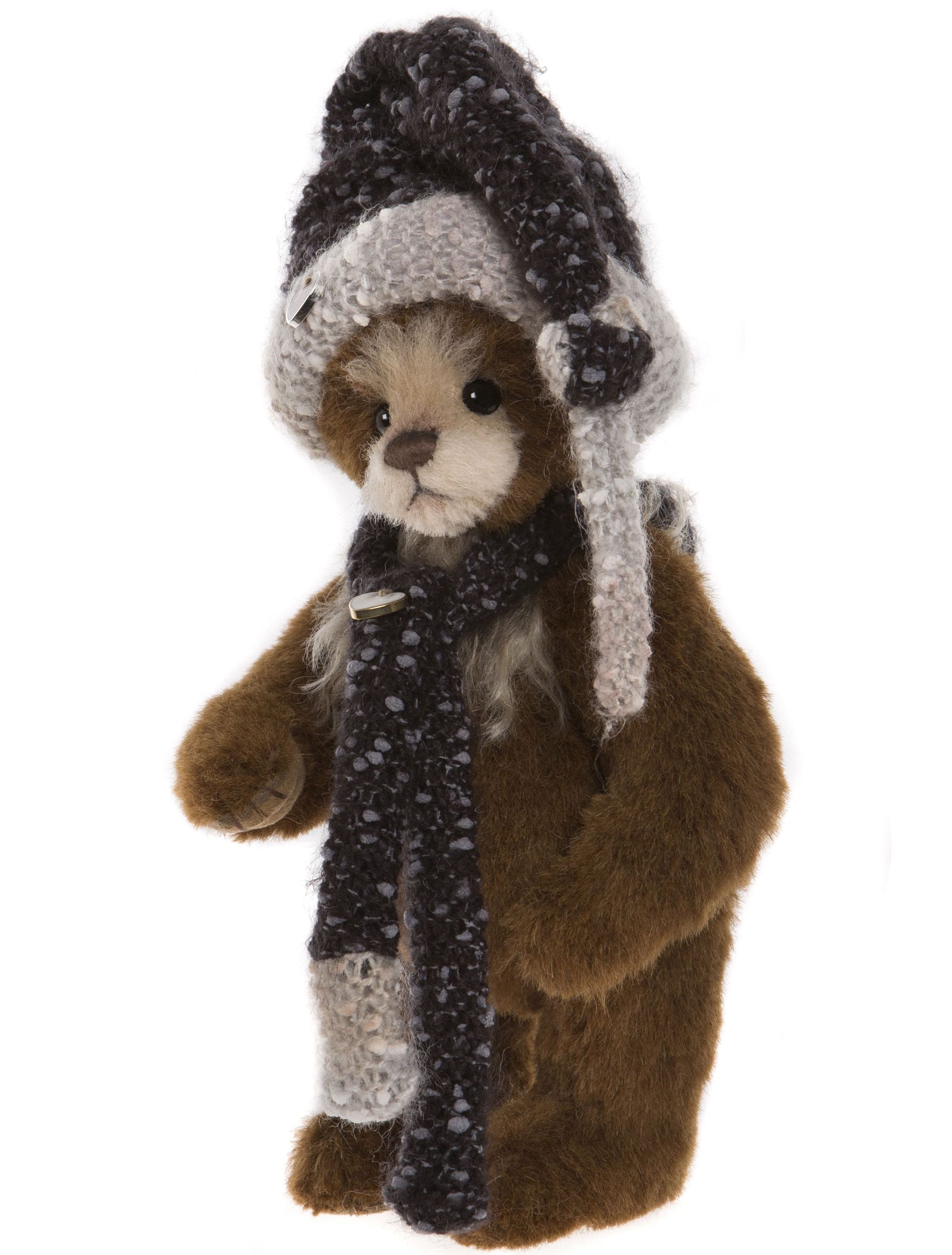 Charlie Bears Jolly Bear with Scarf and Hat
