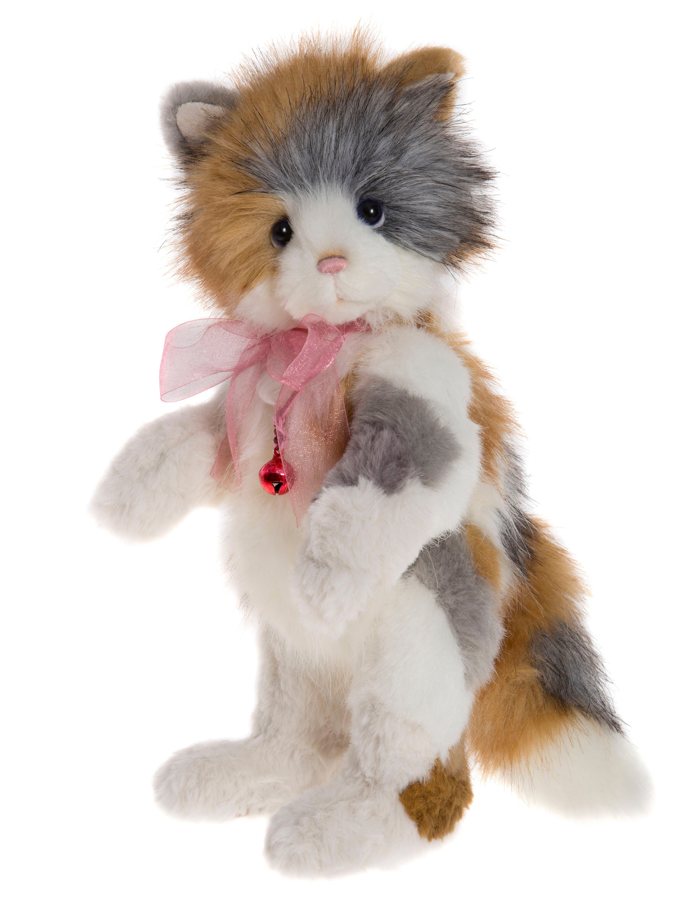 Mitzi Calico Kitty Cat by Charlie Bears Jointed Stuffed Animal