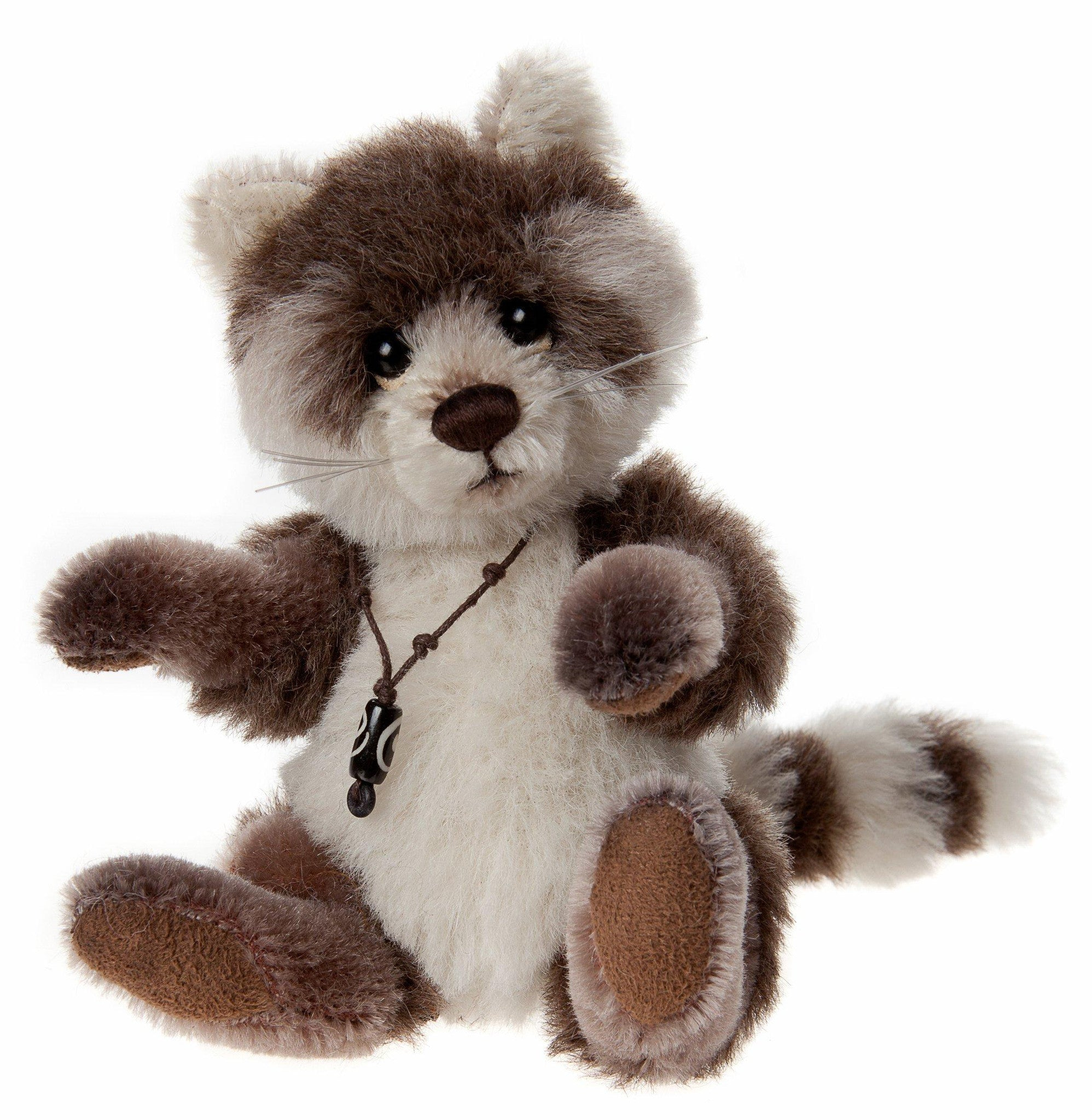 Charlie Bears Pitter Patter Racoon Minimo Mohair Stuffed Animal