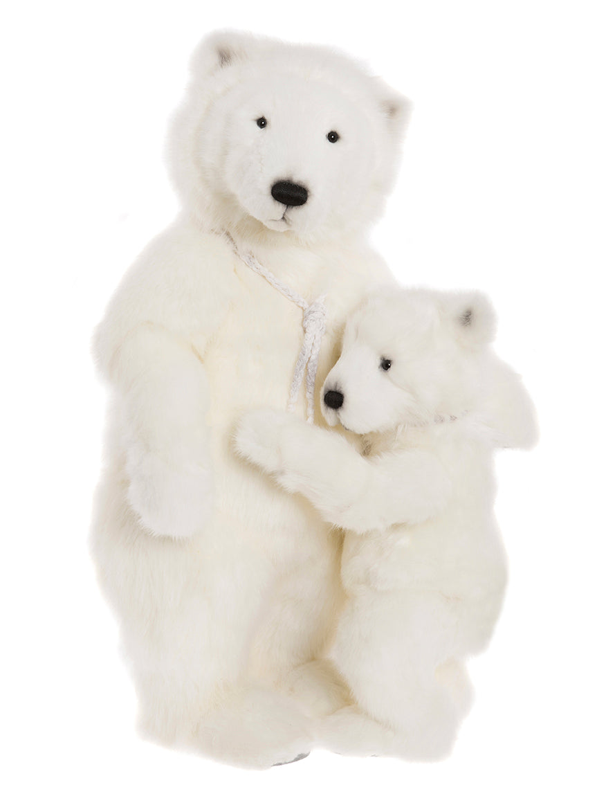 Mama and Baby Polar Bear Stuffed Animals