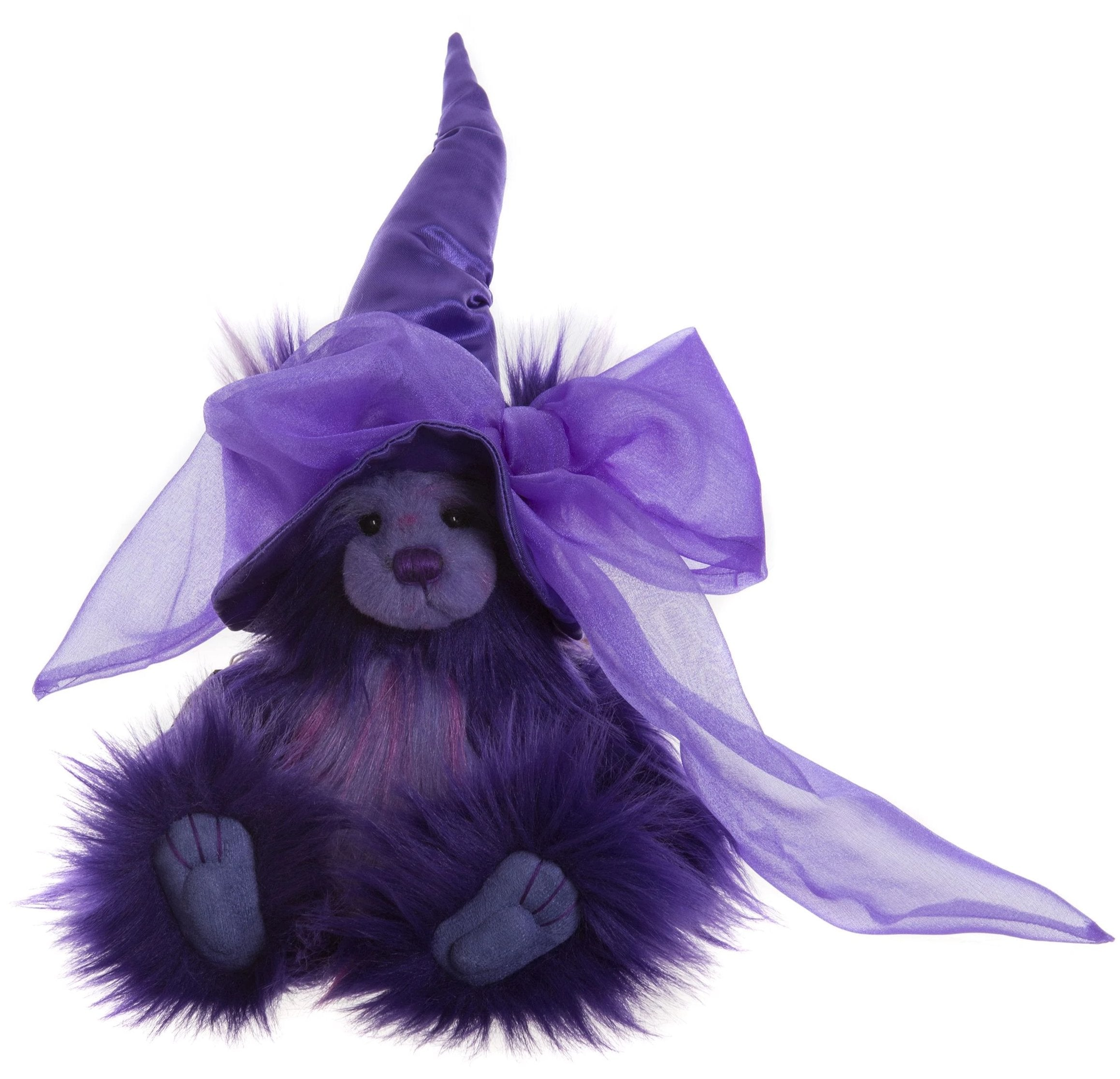 Charlie Bears Potions Purple Witch Teddy Bear