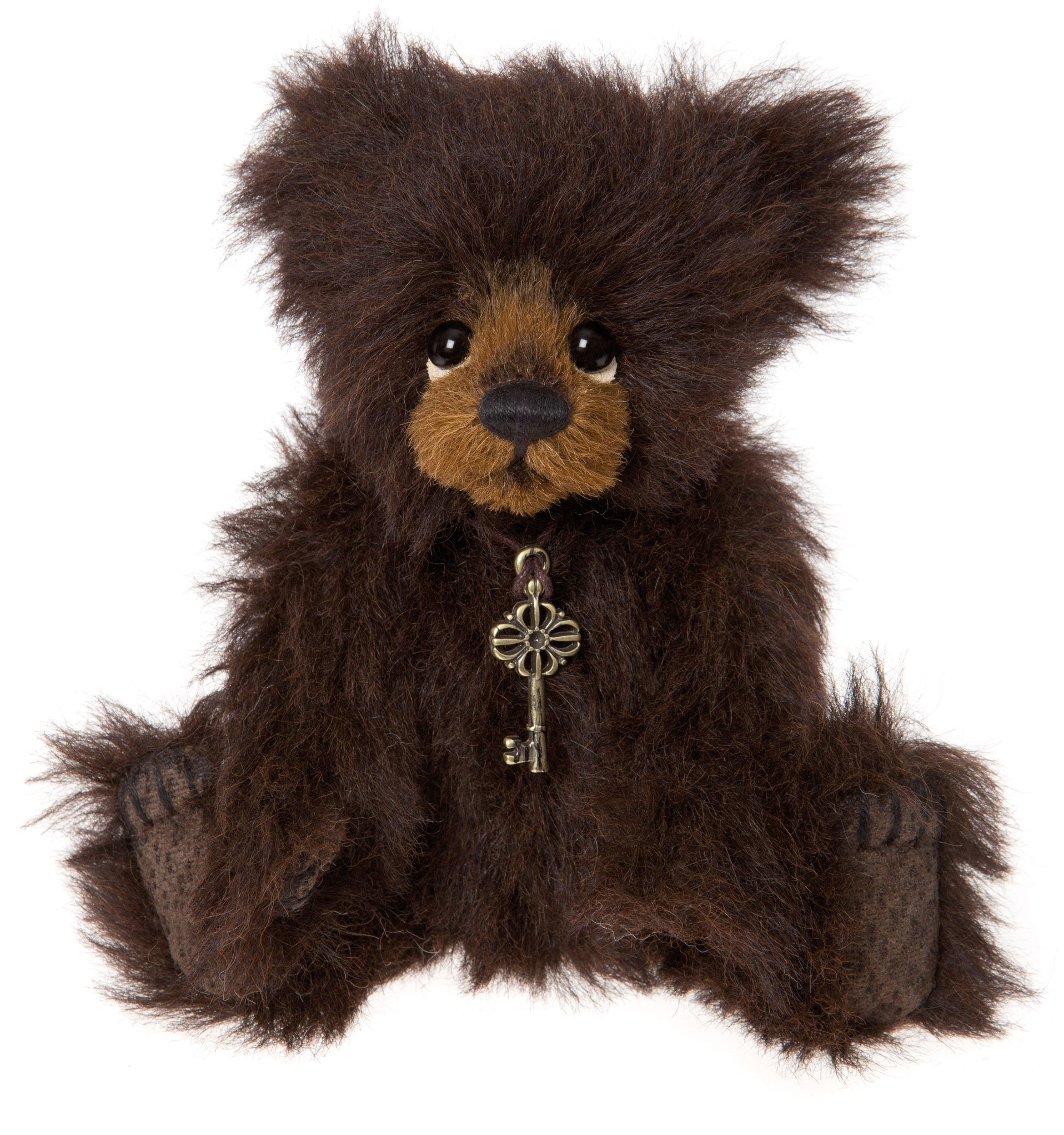 Charlie Bears Trinket Mini Teddy Bear - Bown Mohair