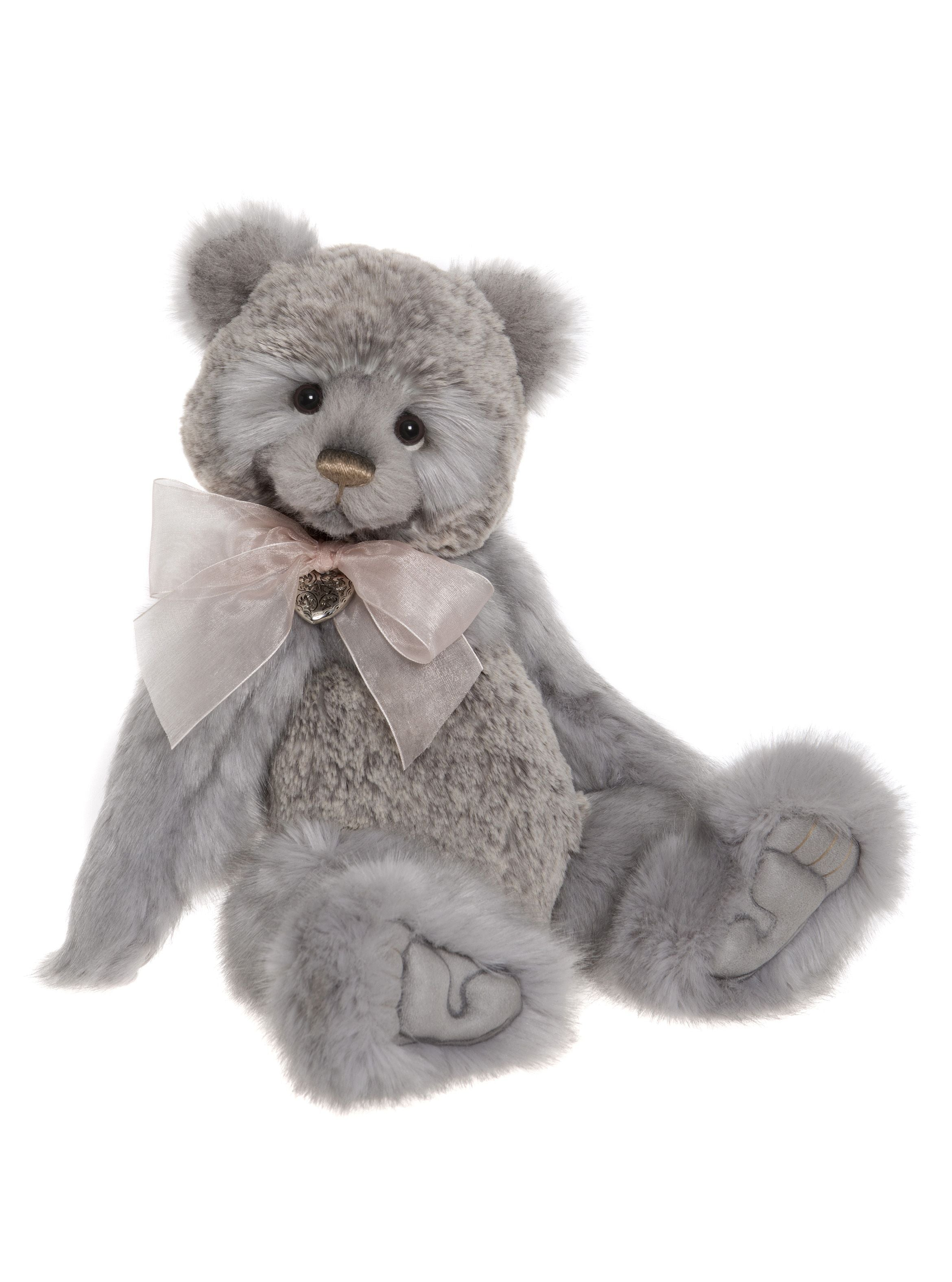 Charlie Bears 2018 Year Bear - Jointed Gray Teddy Bear