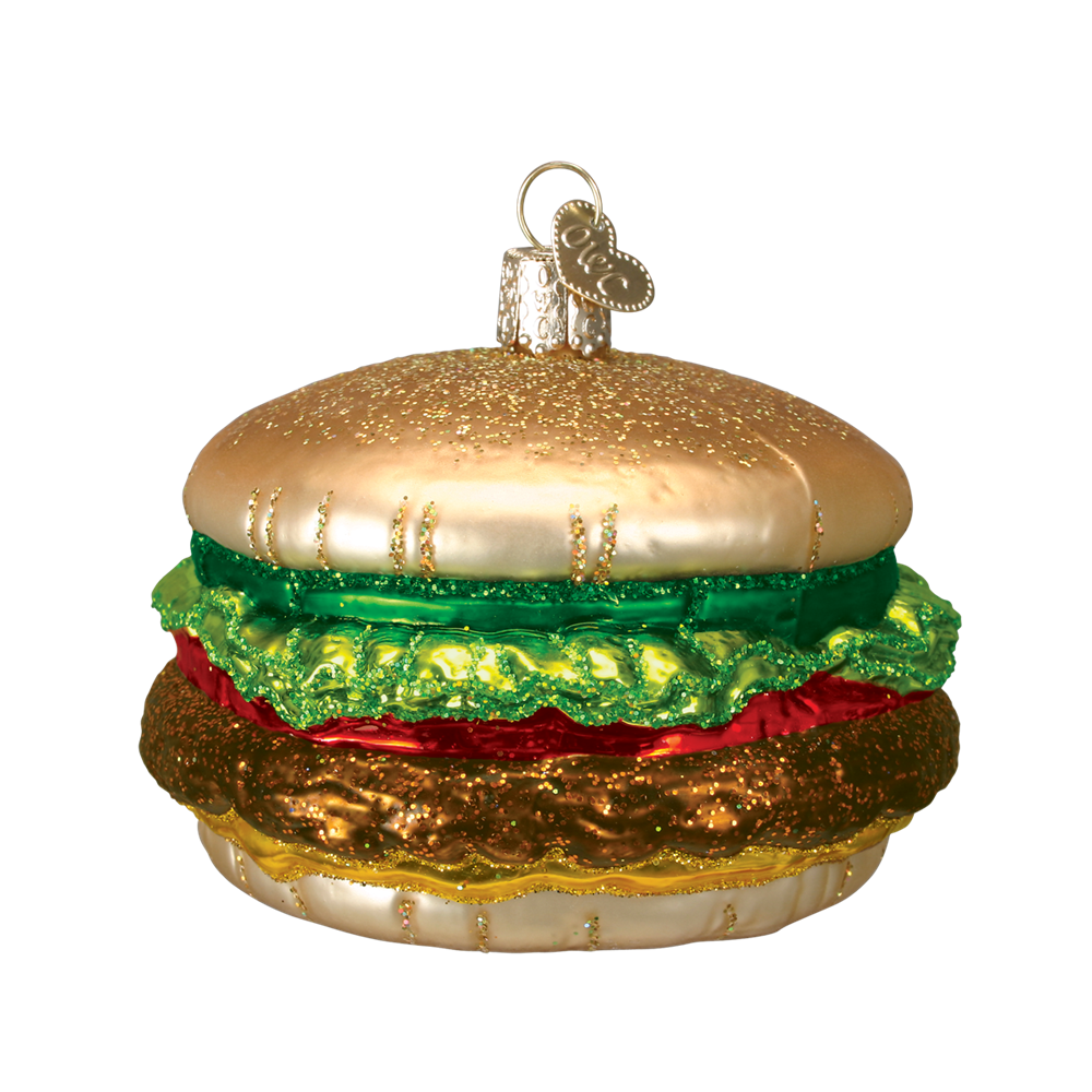 Cheeseburger Ornament - Glass Hamburger Ornaments